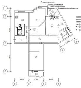 Перепланировка трехкомнатной квартиры в и-155н..