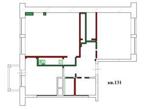 Перепланировка 2 комнатной квартиры ЖК Опалиха О2