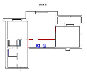 Проект перепланировки 2 комнатной квартиры жк Красногорские ключи