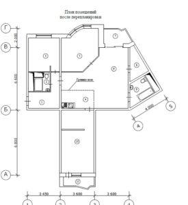 Проект перепланировки 3 комнатной квартиры в серии И-155Н